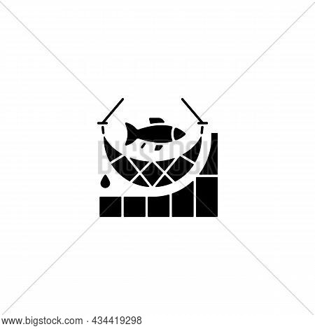 Total Allowable Catch Black Glyph Icon. Maximum Annual Fish Quantity. Harvest Limit. Rules And Regul
