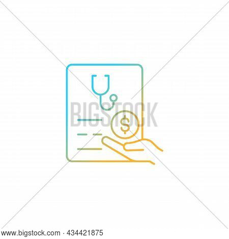 Paid Sick Days Gradient Linear Vector Icon. Keep Employees Healthy. Decreasing Employee Absenteeism.
