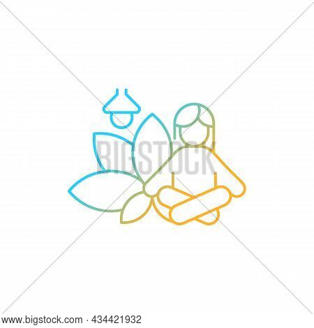 Meditation Rooms Gradient Linear Vector Icon. Meditative Space At Work. Creating Relaxation Area. We