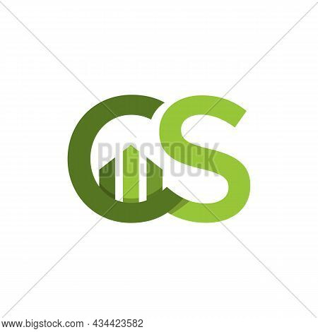 Initial Letter Cs Business And Finances Logo Concept Design Image. Letter Cs With Business Graphic B