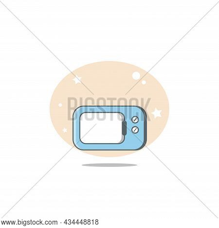 Microwave Vector Clipart. Microwave Isolated Flat Icon.