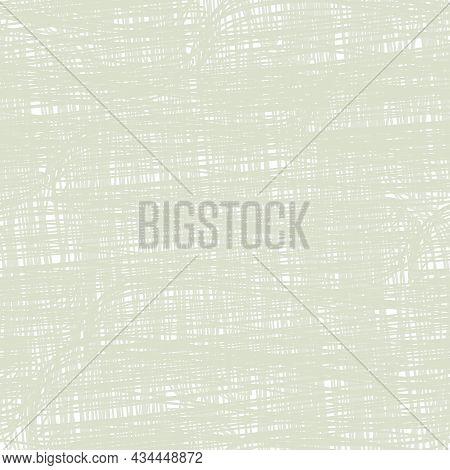 Natural Beige Linen Texture Vector Background. Seamless Pattern. Finely Woven Effect Organic Ecru Sc