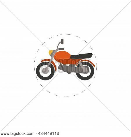 Motorcycle Vector Clipart. Motorcycle Isolated Flat Icon.