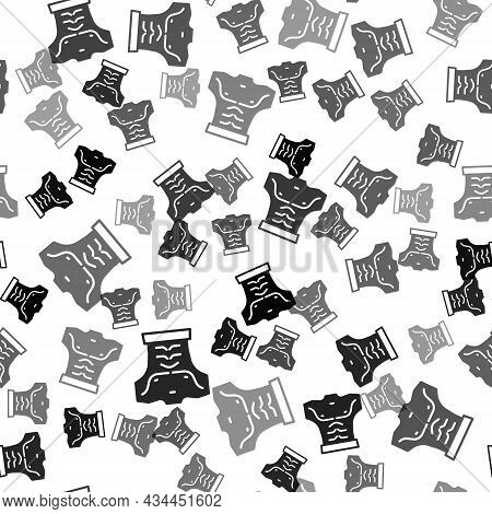Black Bodybuilder Showing His Muscles Icon Isolated Seamless Pattern On White Background. Fit Fitnes