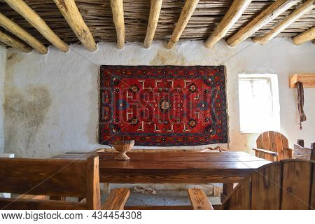 Interiors  In Restored Khoy Village Which Located On The Bank Of Ahkhete River. Chechnya (chechen Re