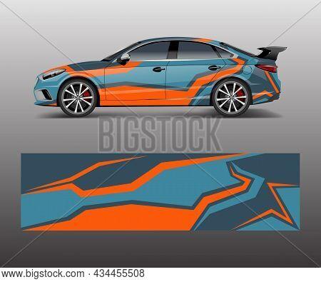 Racing Car Wrap Design. Wrap Design For Custom Sport Car.