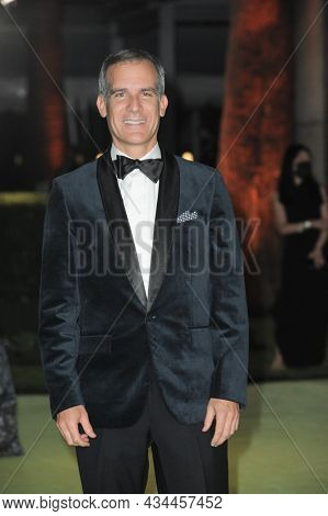 Los Angeles Mayor Eric Garcetti at the Academy Museum of Motion Pictures Opening Gala held at the Academy Museum of Motion Pictures in Los Angeles, USA on September 25, 2021.