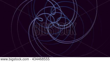 Purple Background With Smooth Lines, Abstract Dark Background.