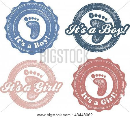 It's a new Baby Boy or Girl Stamps