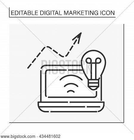 Social Networking Potential Line Icon. Social Media Marketing. Endorsements And Product Placement Fr