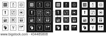 Set Power Button, Music Note, Tone, Microphone, Sound Mixer Controller, Speaker Volume, Usb Flash Dr