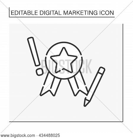 Digital Marketing Expert Line Icon. Campaigns For Creating And Publishing Written And Visual Content