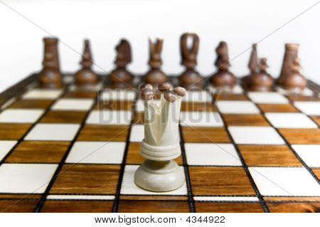 Chess Queen Against Army