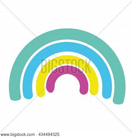 Vector Multicolored Rainbow. Ornament For Decoration. An Element For Congratulations. Illustration F