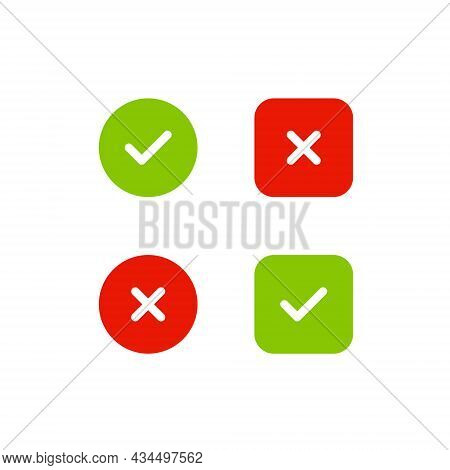Right And Wrong, Check Mark Icon Vector
