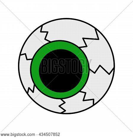 Vector Isolated Halloween Element Colorful Scary Eyeball
