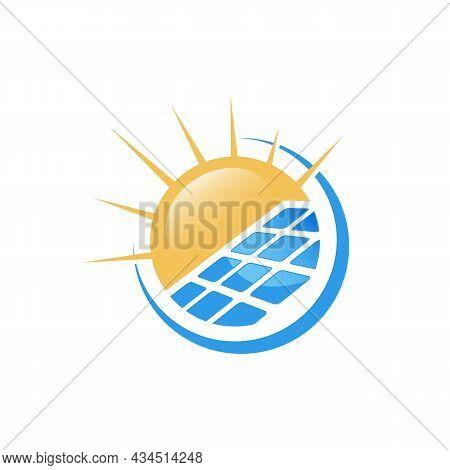 Solar Panel Logo Vector Design
