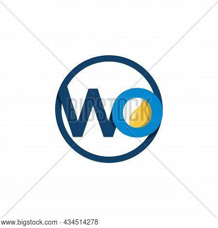 Initial Wo Lettering Logo Design Of Oil Petroleum Logo. Gas And Petroleum Modern Logo Vector Image