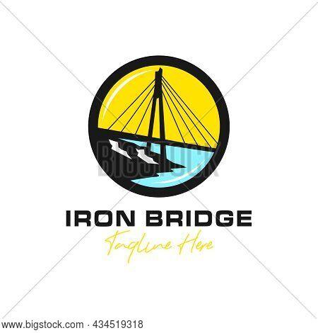 Iron Bridge Building Inspiration Illustration Logo Design
