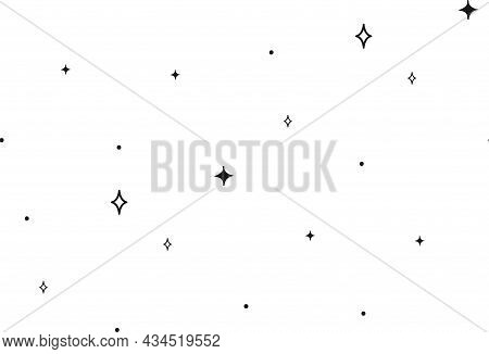 Abstract Background Seamless Pattern Dot And Stars