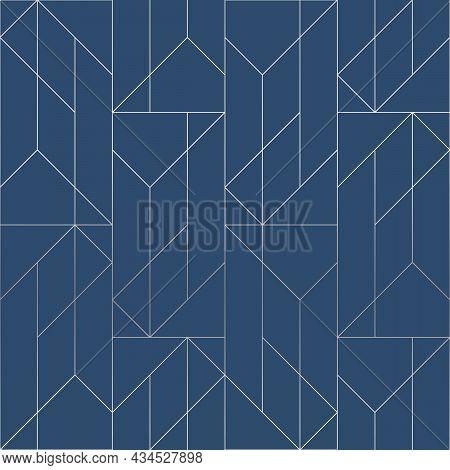 Silver Texture. Seamless Geometric Pattern. Silver Background. Vector Seamless Pattern. Geometric Ba
