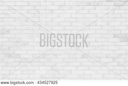 White Grunge Brick Wall Texture Background For Stone Tile Block Painted In Grey Light Color Wallpape