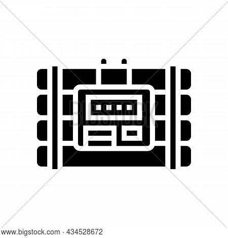 Bomb Danger Glyph Icon Vector. Bomb Danger Sign. Isolated Contour Symbol Black Illustration