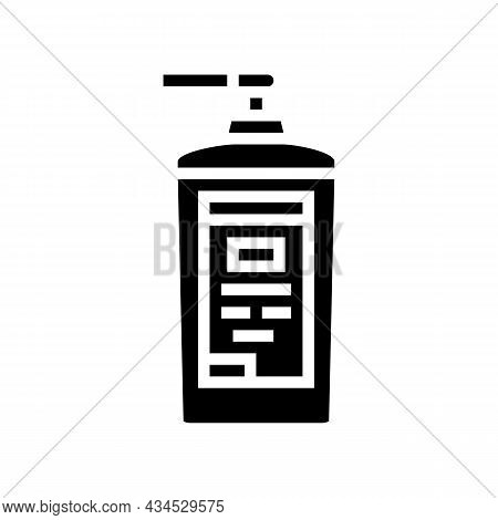 Concentrated Detergent With Dispenser Glyph Icon Vector. Concentrated Detergent With Dispenser Sign.