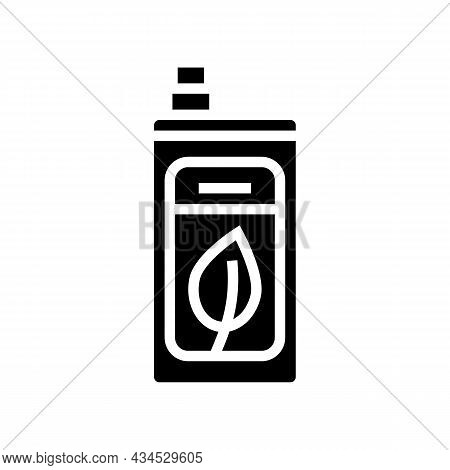 Eco Friendly Detergent Glyph Icon Vector. Eco Friendly Detergent Sign. Isolated Contour Symbol Black
