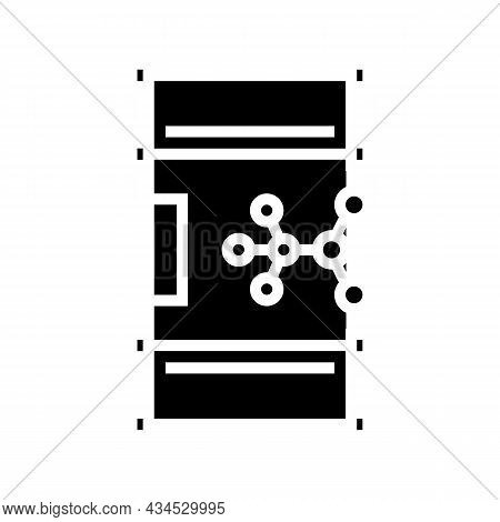 Methanol Gas Station Glyph Icon Vector. Methanol Gas Station Sign. Isolated Contour Symbol Black Ill