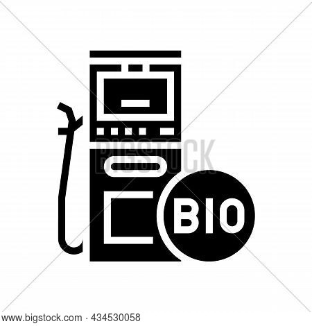 Gasoline Gas Station Glyph Icon Vector. Gasoline Gas Station Sign. Isolated Contour Symbol Black Ill