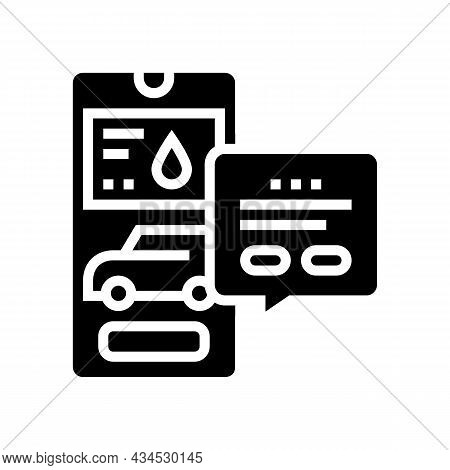 Store Gas Station Glyph Icon Vector. Store Gas Station Sign. Isolated Contour Symbol Black Illustrat