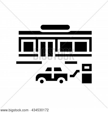 Wheel Inflation Glyph Icon Vector. Wheel Inflation Sign. Isolated Contour Symbol Black Illustration