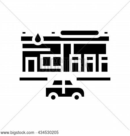 Flammable Sign Glyph Icon Vector. Flammable Sign Sign. Isolated Contour Symbol Black Illustration