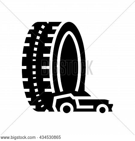 High Performance Tires Glyph Icon Vector. High Performance Tires Sign. Isolated Contour Symbol Black