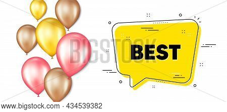 Best Promotion Text. Balloons Promotion Banner With Chat Bubble. Special Offer Sale Sign. Advertisin