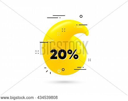 20 Percent Off Sale. Yellow 3d Quotation Bubble. Discount Offer Price Sign. Special Offer Symbol. Di
