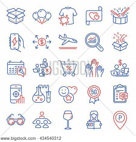 Business Icons Set. Included Icon As Voting Hands, Drums, Sunglasses Signs. Smile, Spanner, Chemistr