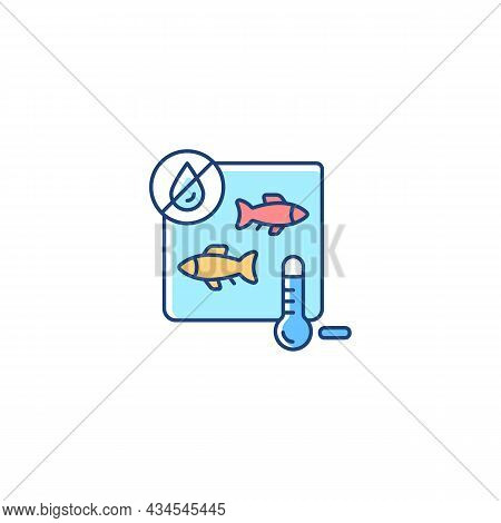Freeze Drying Fish Rgb Color Icon. Method Of Preservation. Vacuum And Sublimation. Dehydration. Comm