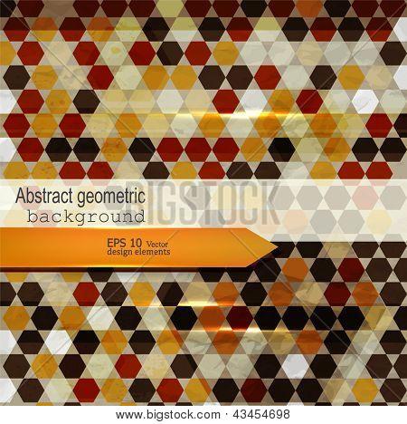 Bunte geometrisch abstrakt. Vektor-Illustration. EPS 10