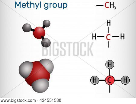 Methyl Group (me), Ch3. It Is Alkyl Functional Group, Structural Unit Of Organic Compounds. Structur