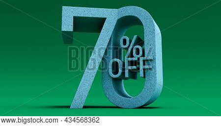 Up To 70% Off Special Offer, Sale Up To Seventy 70 Percent Off, 3d Render