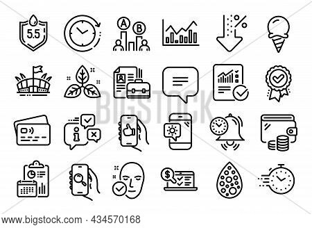 Vector Set Of Health Skin, Arena And Weather Phone Line Icons Set. Calendar Report, Money Wallet And