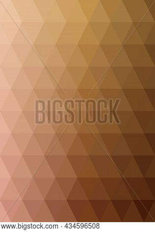 Abstract Background Pattern. Triangle Shape Brown Gradient. Texture Design For Publications, Covers,