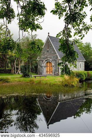 Catholic Church Of Saint Finbarr Oratory. Chapel Is Used For Weddings. Gougane Barra Park West Irela