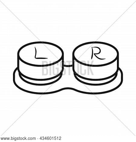 Vector Illustration Of Container And Lenses Icon. Graphic Of Container And Contact Vector Icon For S