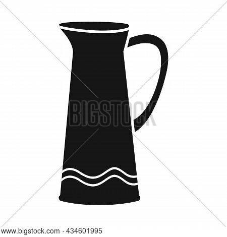 Isolated Object Of Jug And Clay Sign. Web Element Of Jug And Pot Vector Icon For Stock.