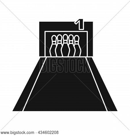 Vector Illustration Of Lane And Target Symbol. Graphic Of Lane And Hit Vector Icon For Stock.