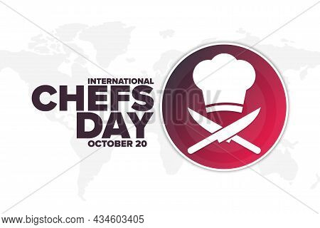International Chefs Day. October 20. Holiday Concept. Template For Background, Banner, Card, Poster