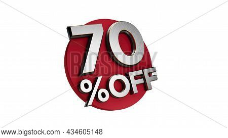70 Percent Off 3d Sign On White Special Offer 70% Discount Tag Flash, Sale Up To Seventy Percent Off